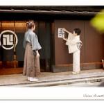 赤坂の老舗料亭「浅田」前にて