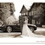 お気に入りの車との撮影。古河邸洋館前にて