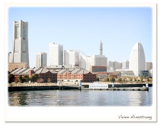 大桟橋の西側にみなとみらい赤煉瓦倉庫