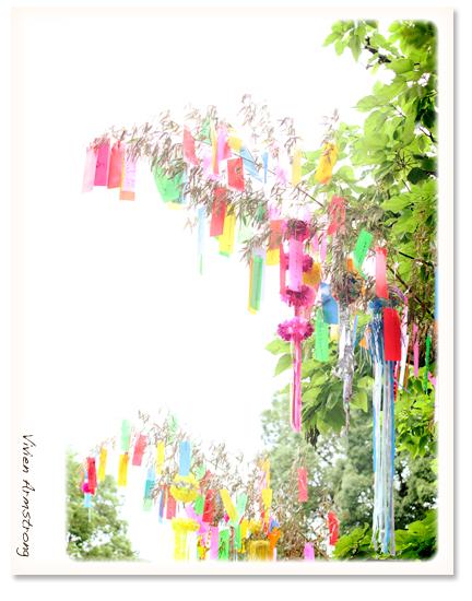 清澄庭園の七夕飾り