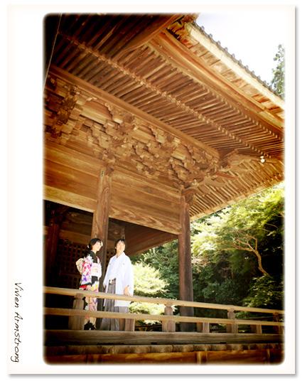 歴史ある鎌倉の寺社で前撮りすることもできます