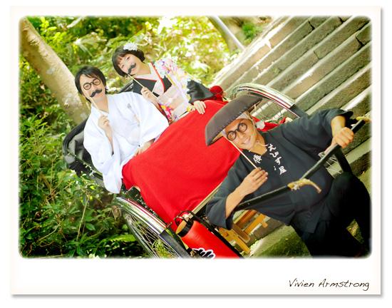 鎌倉の人力車で前撮り