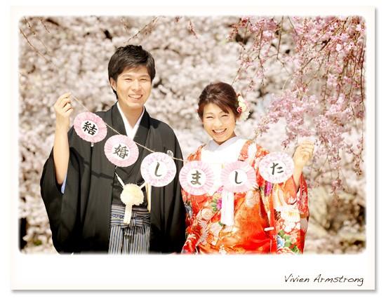 桜ロケーション写真で結婚しましたのご報告!