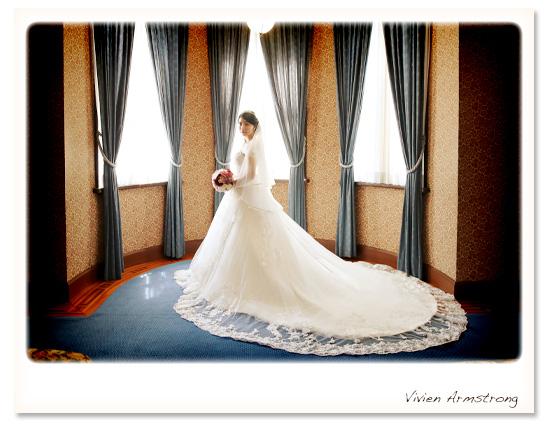 旧細川侯爵邸でウェディングドレスを着て前撮り