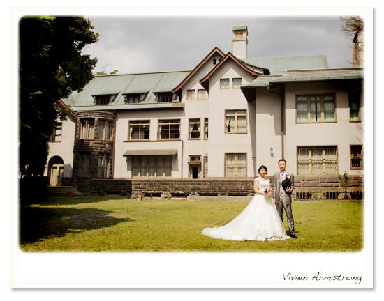 旧細川侯爵邸をバックにお写真撮影