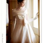 上品なウェディングドレス