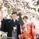 手作りの夫婦扇子で桜ロケーション前撮りを華やかに楽しく