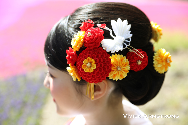 つまみ細工かんざしが花嫁を華やかに彩る和装前撮り