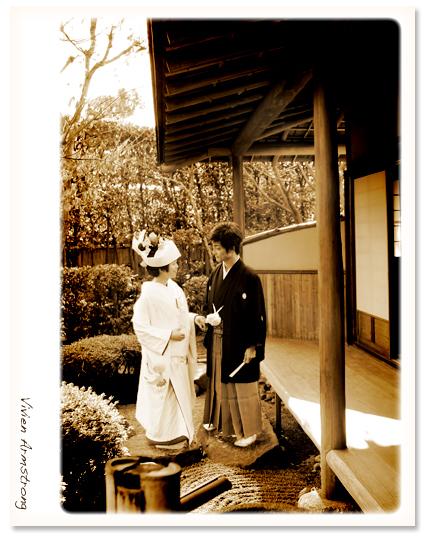 赤坂ブライダルフォトグラファーズの、ちょっといい話-お茶室 前撮り