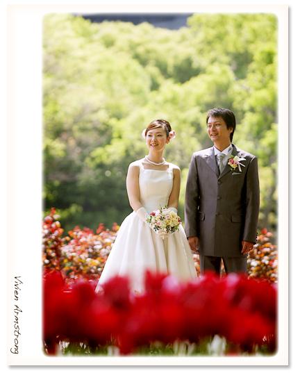 赤坂ブライダルフォトグラファーズの、ちょっといい話-日比谷公園 前撮り
