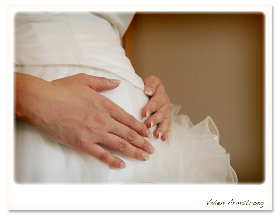 妊娠8ヶ月の新婦様