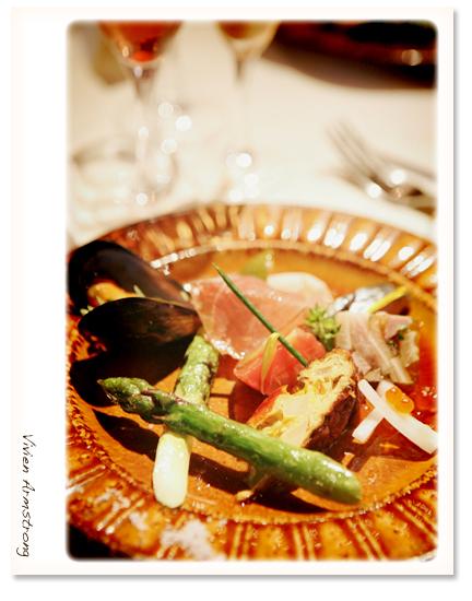 レストランピレネー前菜の盛り合わせ
