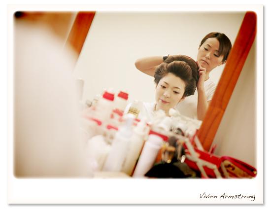 日本髪の準備も着々と