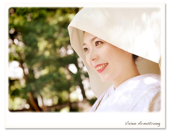 白無垢に綿帽子のご新婦様