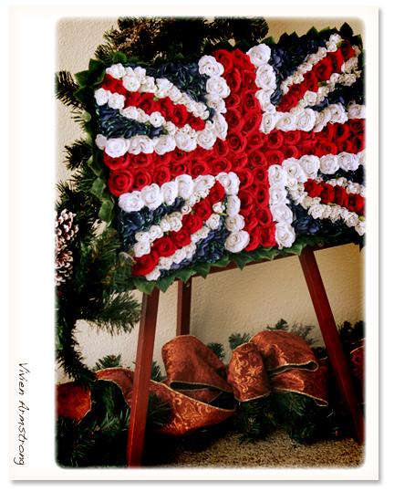 イギリスの国旗、クリスマス風