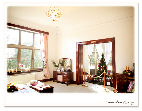 クリスマス仕様の復元室
