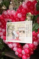 挙式当日の撮影会場にある和装の前撮り撮影写真を使ったウェルカムボード