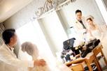 インターコンチネンタル東京ベイの明るいお仕度ルームでさっそく2ショット