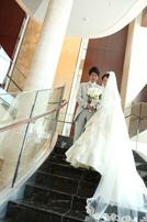 シャングリラホテルにてウェディングドレスのスナップ撮影