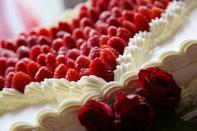 挙式当日のウェディングケーキのイメージカット