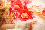 インターコンチ東京ベイの華やかカラ―ドレス