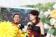 結婚式の新郎新婦のスナップ撮影
