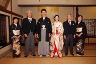 挙式当日撮影中に撮る家族写真
