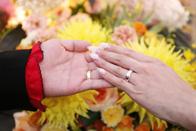 お二人の結婚指輪のお写真