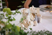手作りのウェルカムベアは白熊でした
