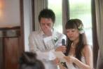 花嫁の手紙、新郎さんが泣いちゃってる