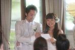 花嫁の手紙、花嫁の笑顔が美しい