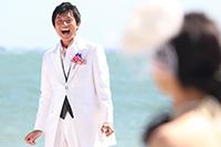 江ノ島で海を背景にロケーション前撮り