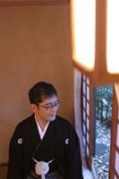 古河邸の落ち着いた和室で落ち着いた前撮り撮影