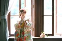 クラシカルな洋館で和洋装ウェディングフォト 前田侯爵邸 明るい色打掛を着ての和洋装フォトウェディング