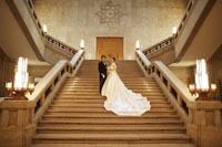 東京国立博物館の大階段でフォトウェディング撮影