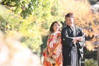 都内の日本庭園で撮影する和装フォトウェディング