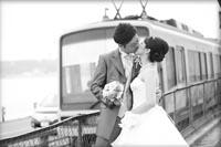 江ノ島でウェディングドレスのロケーションフォト