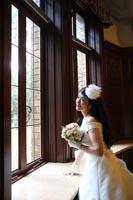 旧前田家本邸洋館でドレスのフォトウェディング撮影