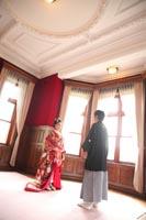 旧古河邸洋館で和装のフォトウェディング