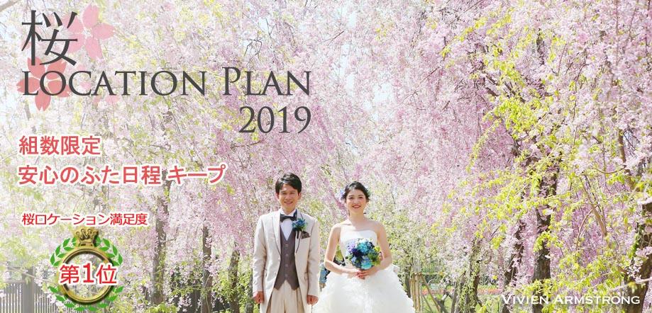 洋装前撮りは都内で桜ロケーションフォト
