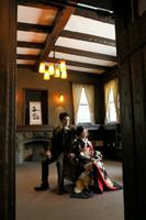 旧細川侯爵邸でモダンでレトロな和洋装のフォトウェディング