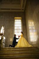 プリンセスのような黄色のカラードレス