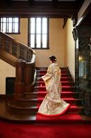 モダンな雰囲気を感じる旧前田侯爵邸での和装撮影