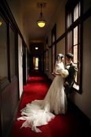 落ち着いた雰囲気の旧前田侯爵邸の廊下
