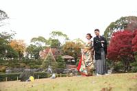 花畑記念庭園で紅葉前撮りロケーション