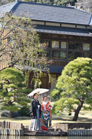 肥後細川庭園で和装前撮りロケーション
