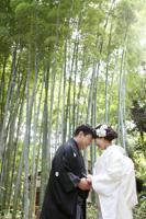 三渓園の竹林で和装前撮りロケーション
