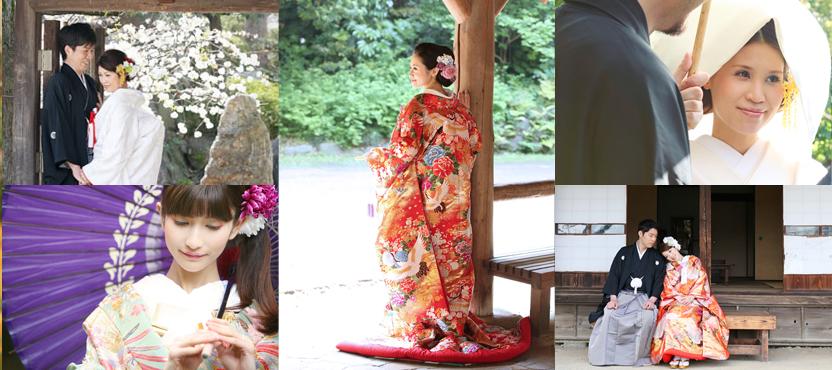 和装前撮り日本庭園