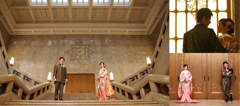 東京国立博物館で和装のフォトウェディング