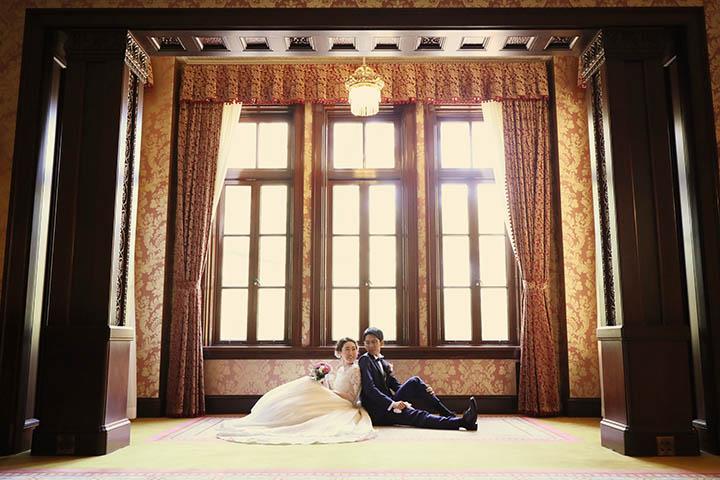 旧前田侯爵邸でドレスで洋装フォトウェディング